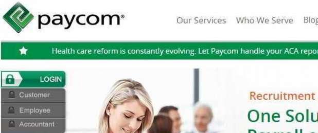 Paycomonline Employee Login