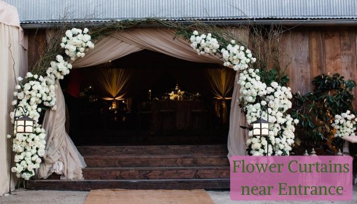 Flower Curtains near Entrance