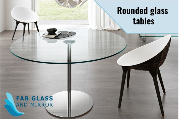 Rounded Glass Tables for Apartments