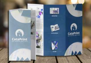 how to propperly fold a brochure after printed