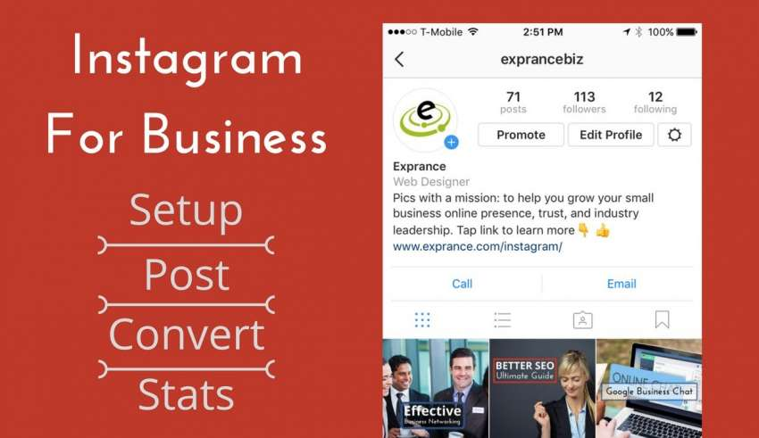 First Instagram Post for Business