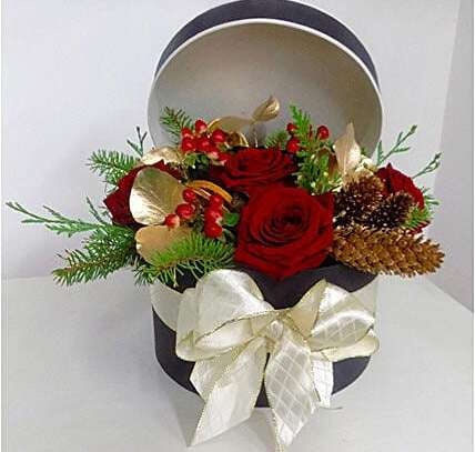 Box Arrangement of Flowers