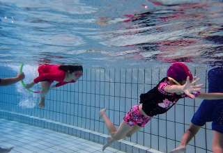 kids swimming practice session