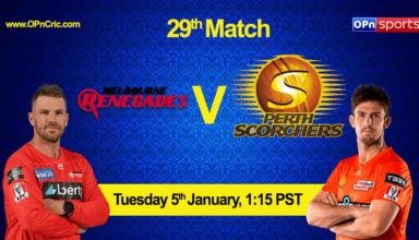 Melbourne Renegades vs Adelaide Strikers 29th Match, MLR vs ADS Live Cricket Score Big Bash League 2020-21