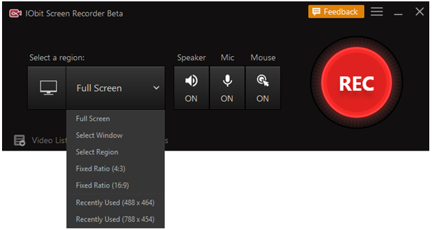 How to Record Screen using IObit Screen Recorder